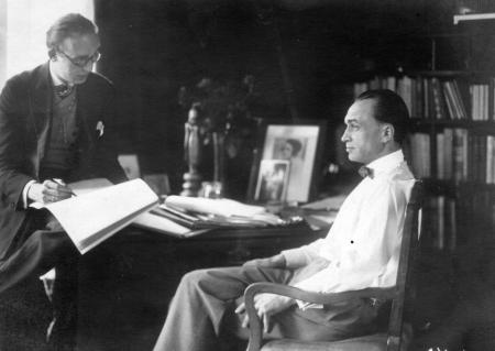 Conrad Veidt having his portrait done by his friend, Hans Grohmann.