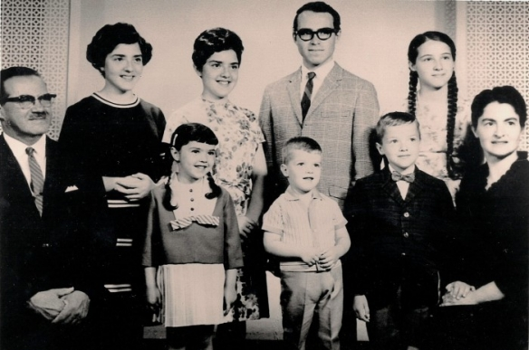 FRONT: My father, Bernard Sigal, Frances (me) , brothers Robert & Michael, my mother, Liesel. BACK: my sisters Selma & Marilyn, brother Peter, sister Margaret. Circa 1966