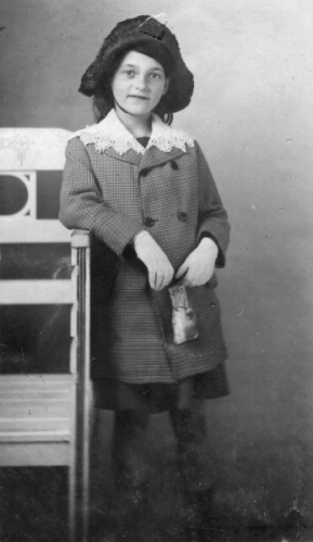 My mother in Hannover, Germany, 1912.