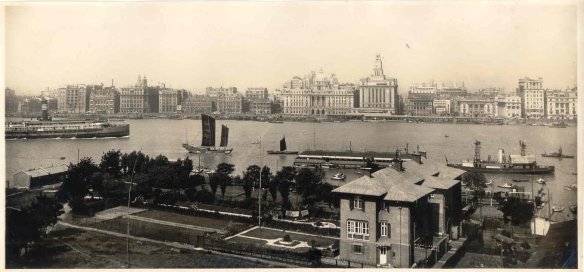 The Bund 1939 - the river-front where the British made their improvements in 1840.